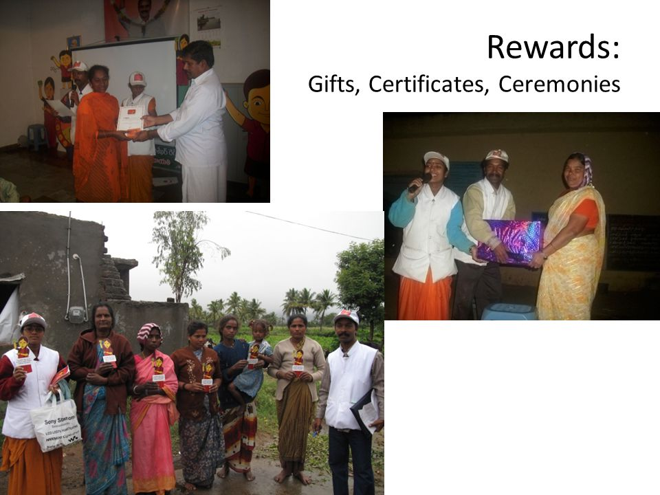 Rewards: Gifts, Certificates, Ceremonies
