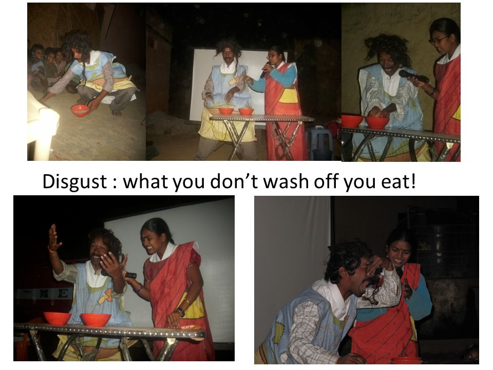 Disgust : what you dont wash off you eat!
