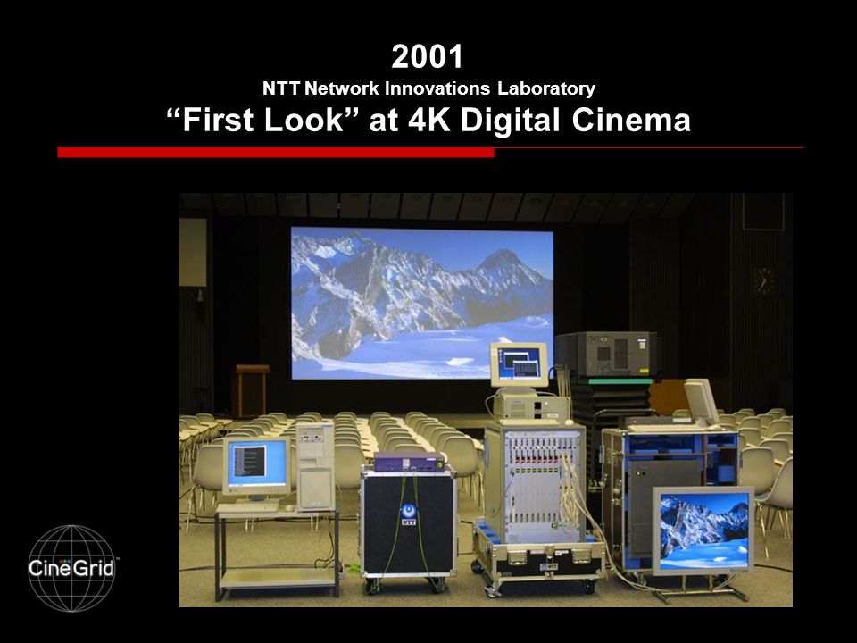 2001 NTT Network Innovations Laboratory First Look at 4K Digital Cinema