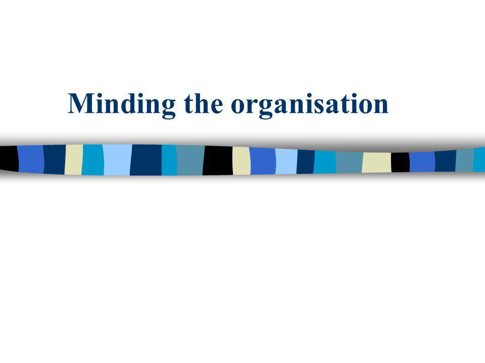 Minding the organisation