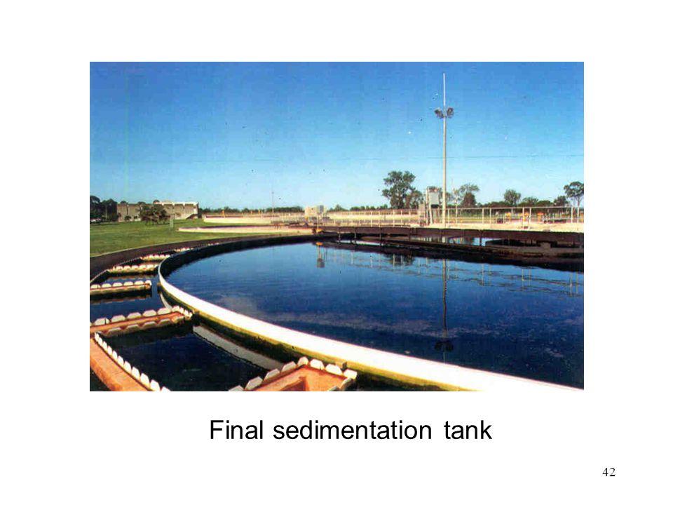 42 Final sedimentation tank