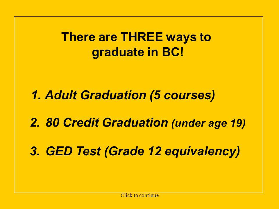 www.bced.gov.bc.ca/eassessment/marking.htm PROOF OF ACADEMIC HIGH SCHOOL GRADUATION in the province of B.C. OFTEN REQUIRED FOR COLLEGE OR UNIVERSITY A