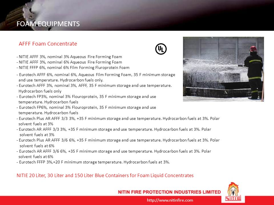 http://www.nitinfire.com FOAM EQUIPMENTS Rim Seal Fire Protection Systems For Floating Roof Tank Floating Roof Tank (RIM SEAL) Protection System is a fully automatic detection cum extinguishing system.