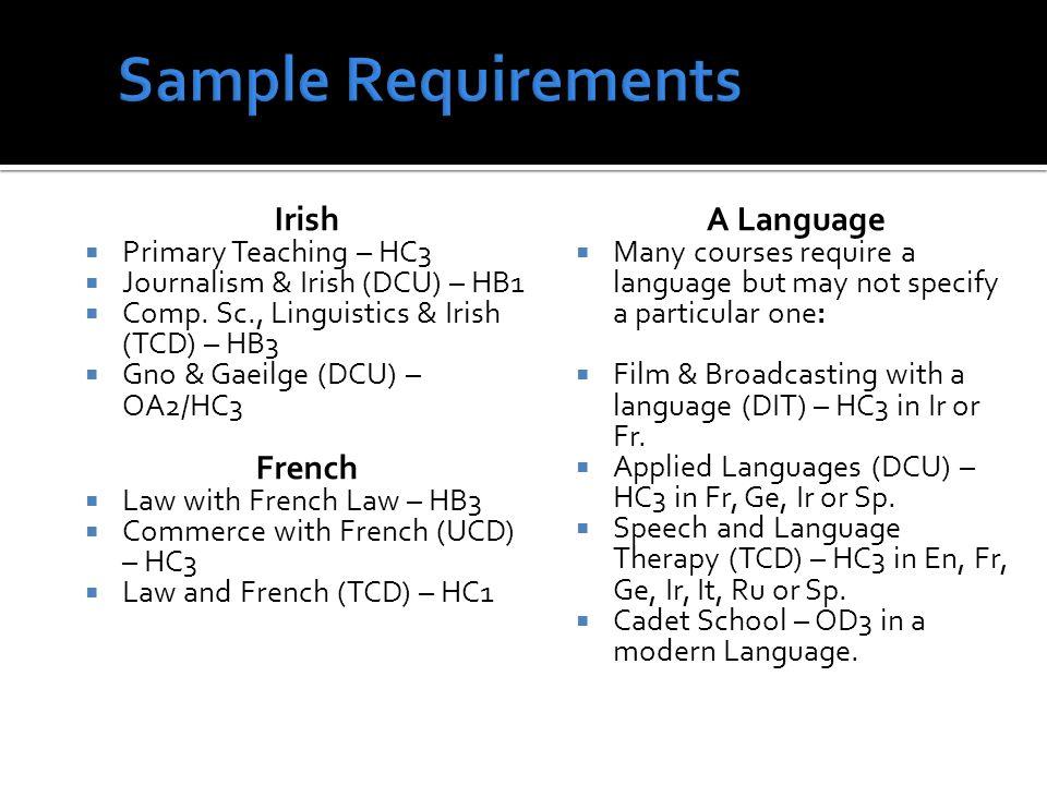 Irish Primary Teaching – HC3 Journalism & Irish (DCU) – HB1 Comp.