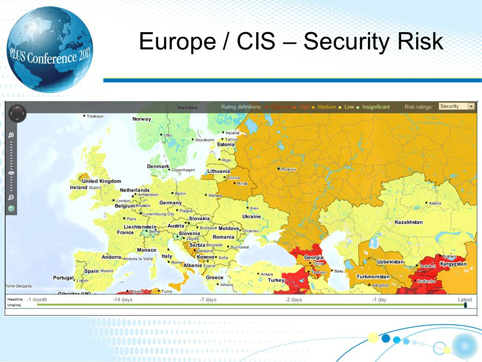 Europe / CIS – Security Risk