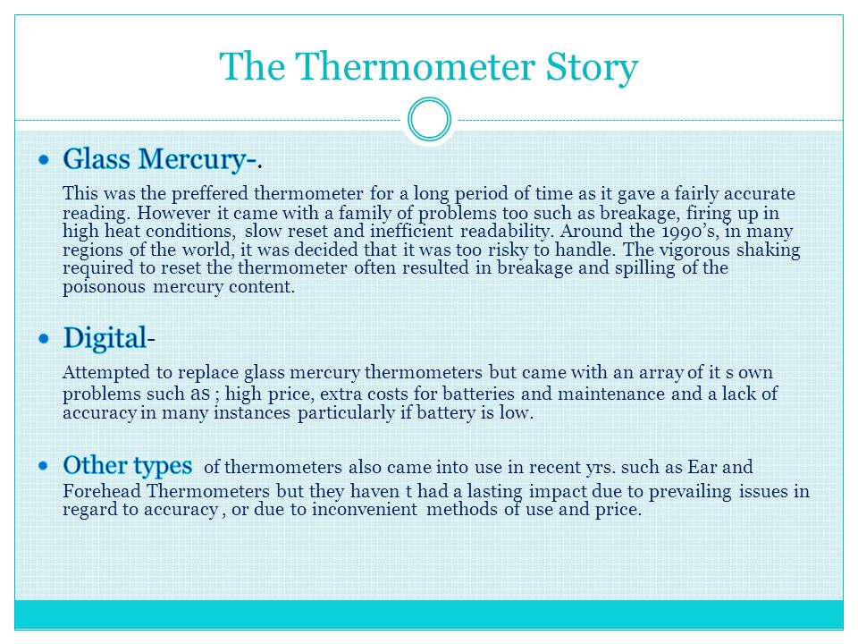 The Thermometer Story