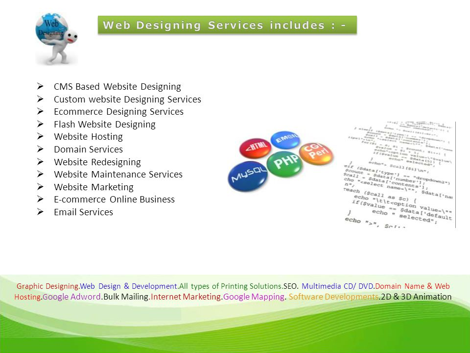 Graphic Designing.Web Design & Development.All types of Printing Solutions.SEO.