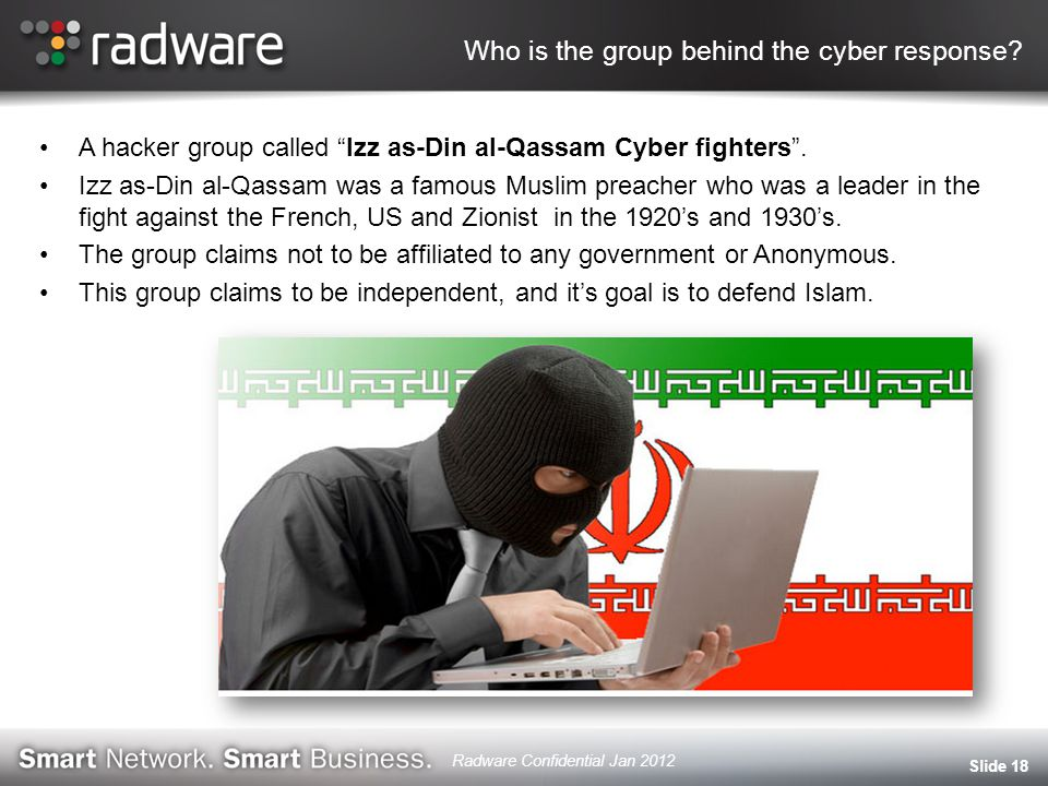 Who is the group behind the cyber response.