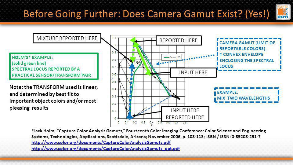Before Going Further: Does Camera Gamut Exist.