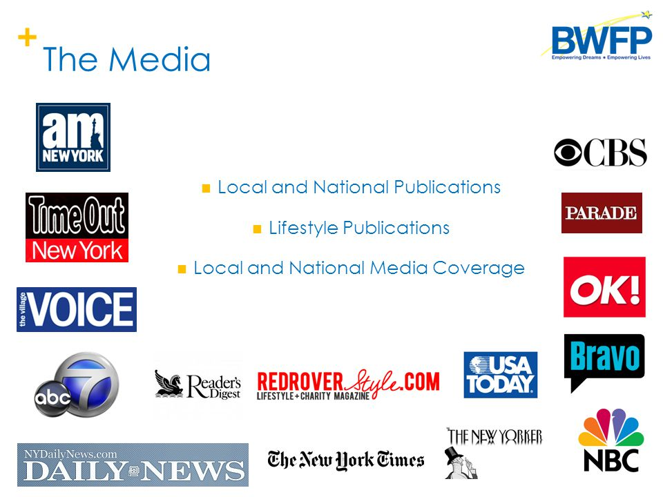 + The Media Local and National Publications Lifestyle Publications Local and National Media Coverage