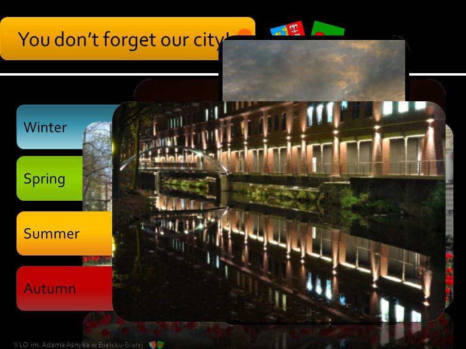 Winter You dont forget our city! II LO im. Adama Asnyka w Bielsku-Białej Spring Summer Autumn