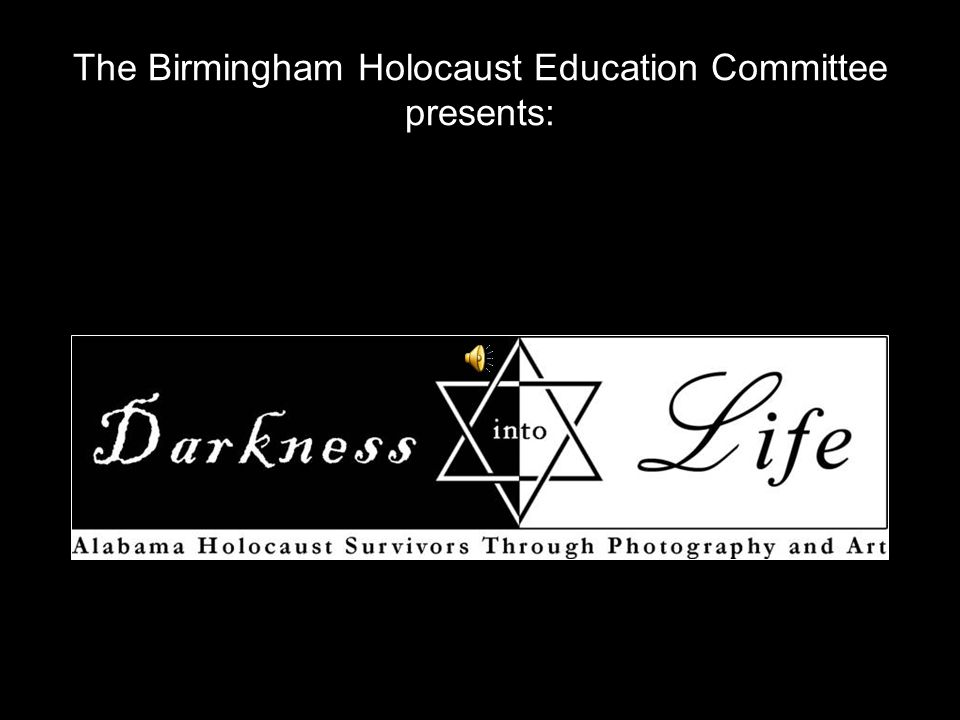 The Birmingham Holocaust Education Committee presents: