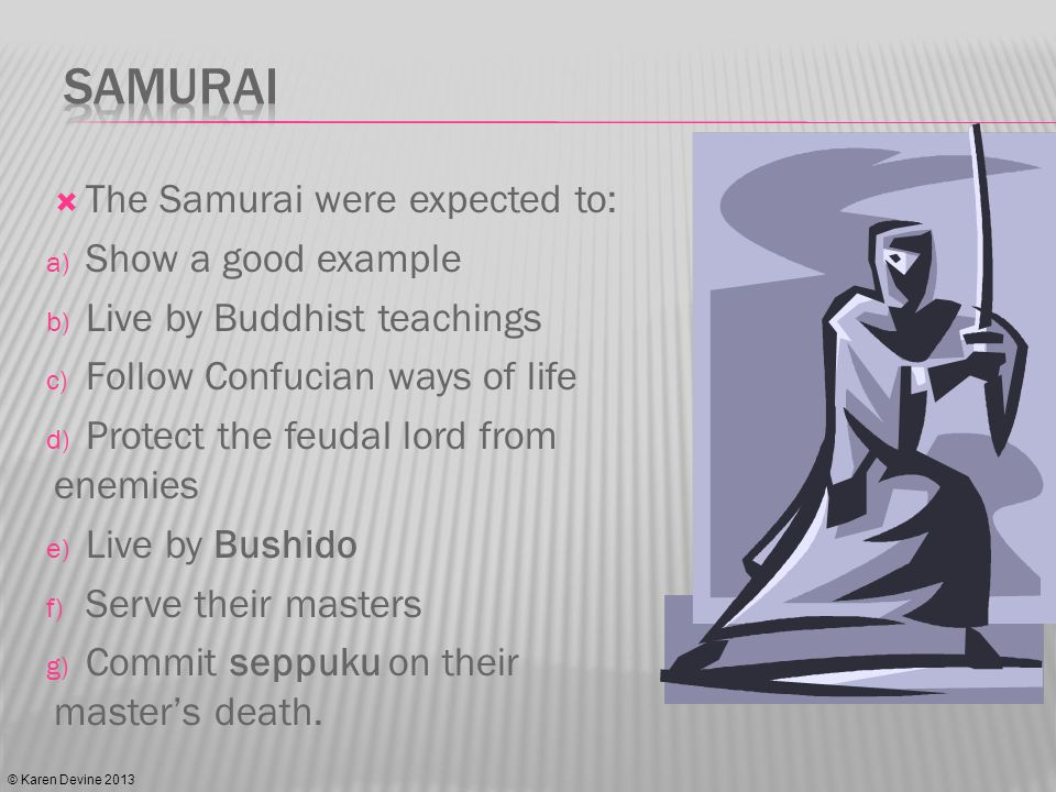 The Samurai could no longer wear katana publically and lost the right to execute commoners who showed them disrespect.