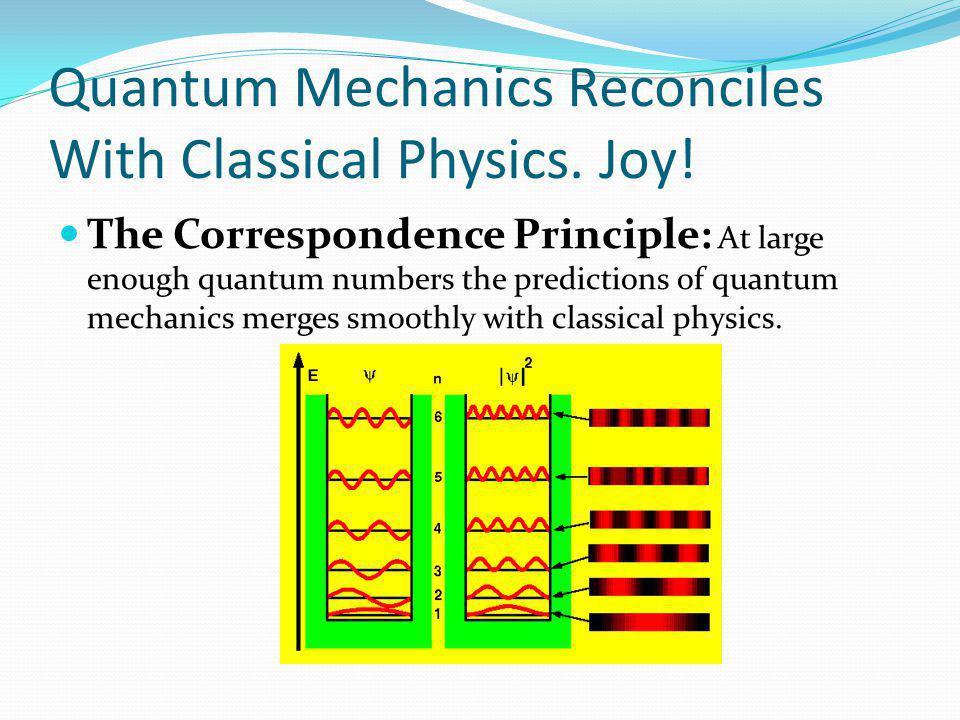 Quantum Mechanics Reconciles With Classical Physics.