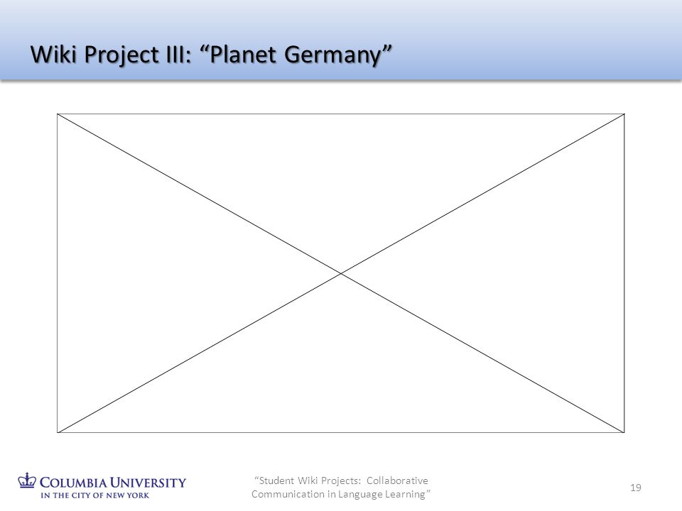 Student Wiki Projects: Collaborative Communication in Language Learning 19 Wiki Project III: Planet Germany