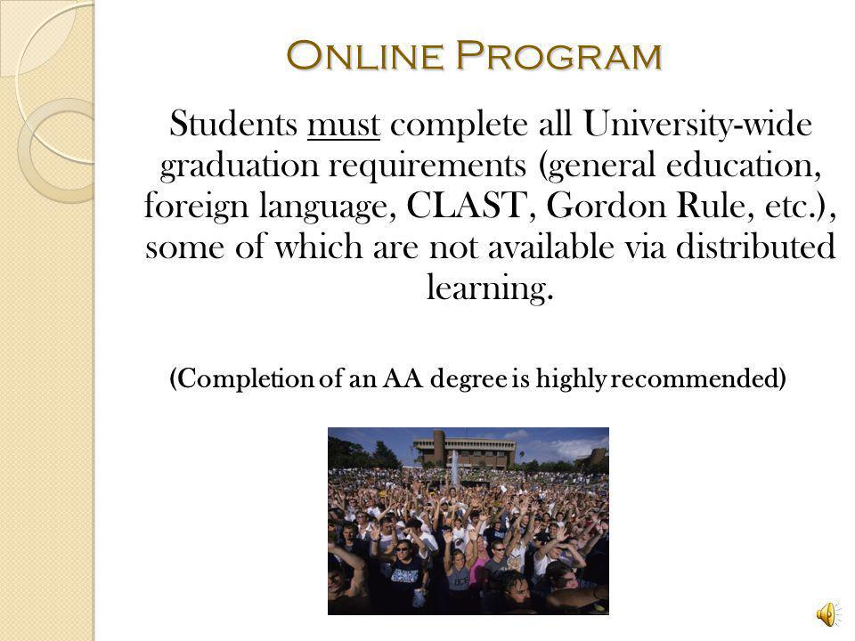 REGIONAL CAMPUS AND ONLINE Interdisciplinary Studies track is available at Regional Campuses and online Areas and minors available on Regional Campuses depend on the regional campus course offerings Example: Business minor and Commerce area will be available Palm Bay and South Lake but not at Leesburg Online only areas and minors are limited