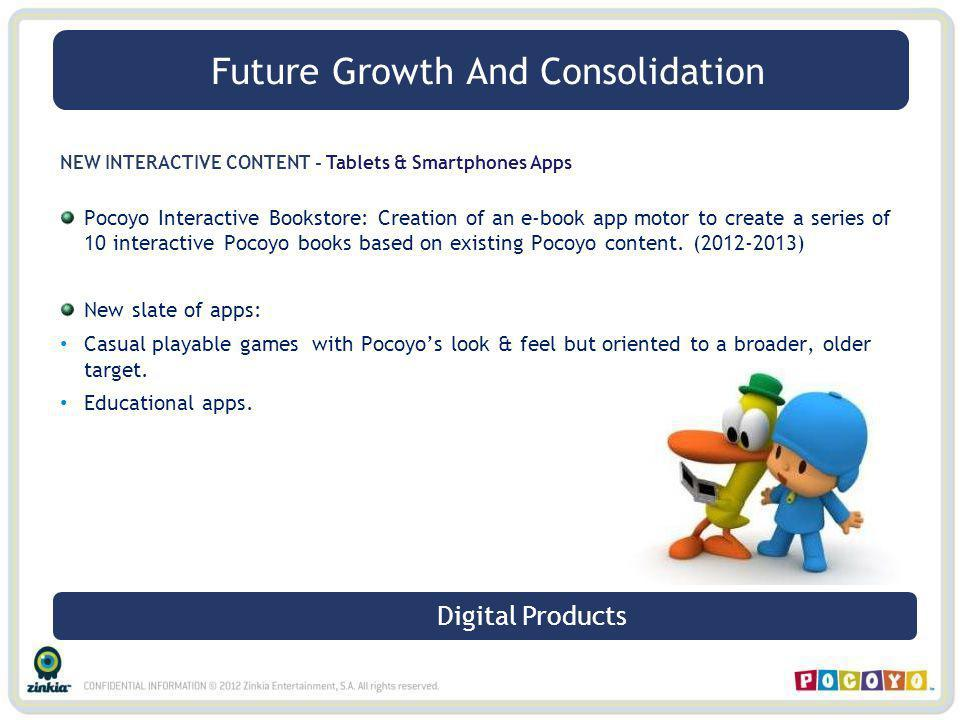 NEW INTERACTIVE CONTENT - Tablets & Smartphones Apps Pocoyo Interactive Bookstore: Creation of an e-book app motor to create a series of 10 interactiv