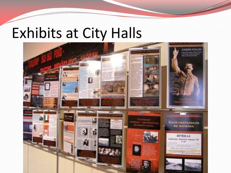 Exhibits at City Halls