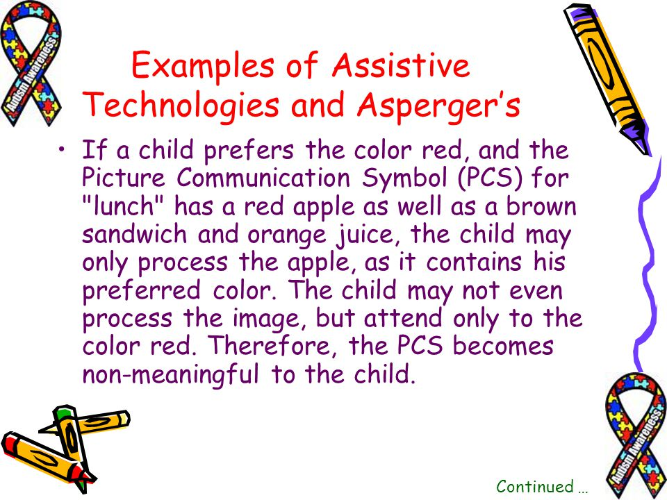 If a child prefers the color red, and the Picture Communication Symbol (PCS) for