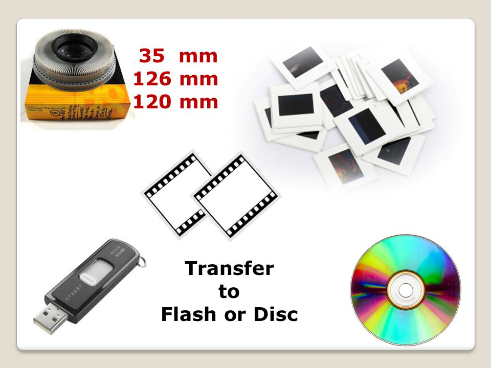35 mm 126 mm 120 mm Transfer to Flash or Disc
