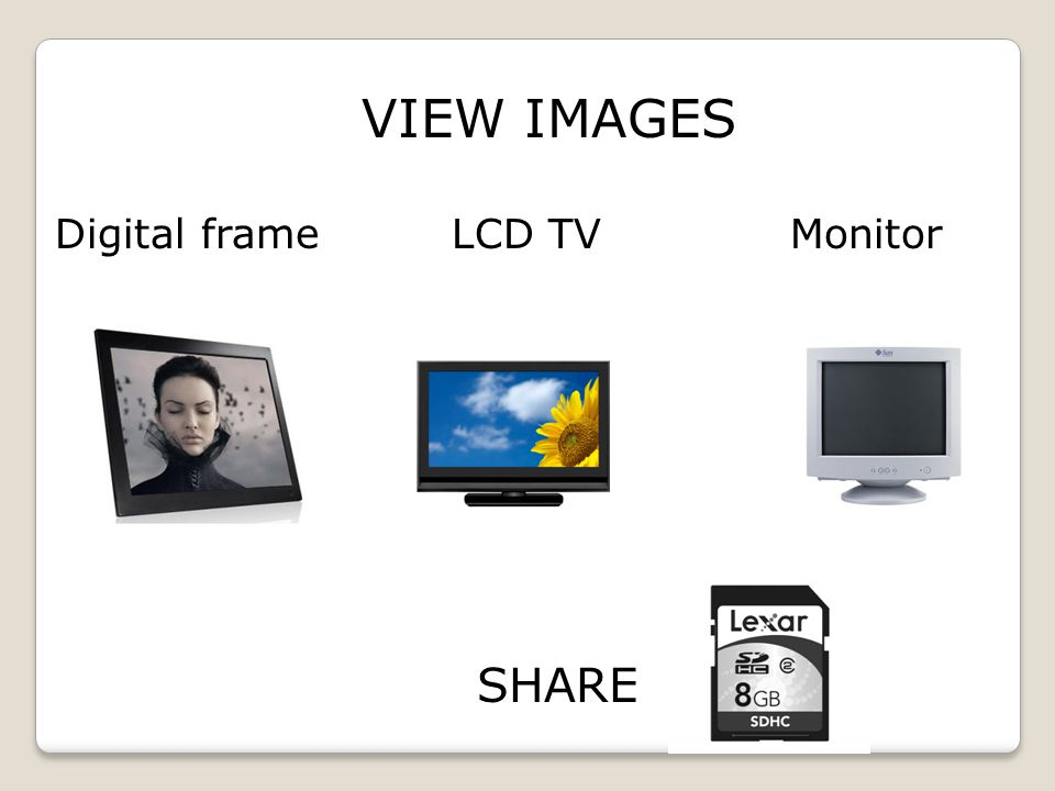 SHARE Digital frame LCD TV Monitor VIEW IMAGES