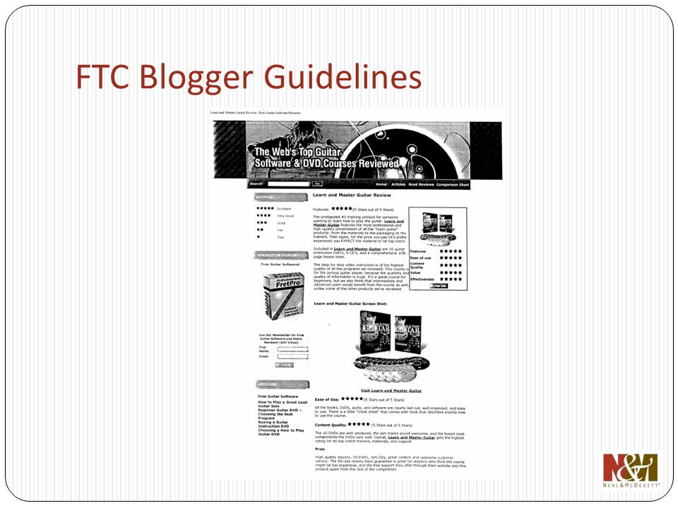 FTC Blogger Guidelines