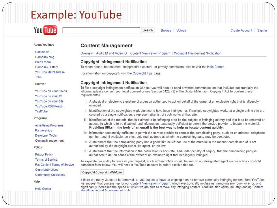 Example: YouTube