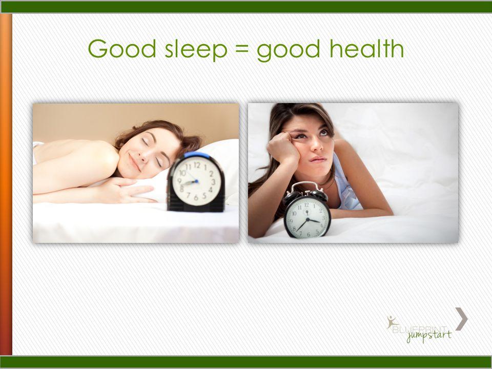 Good sleep = good health