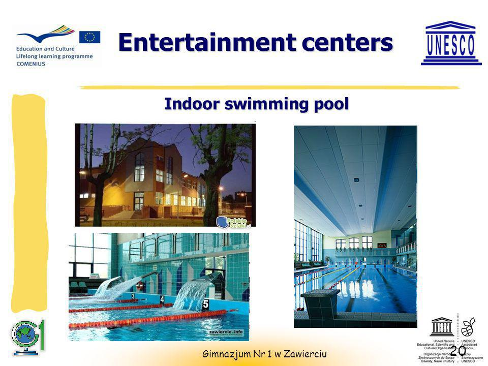 Entertainment centers Indoor swimming pool 20 Gimnazjum Nr 1 w Zawierciu