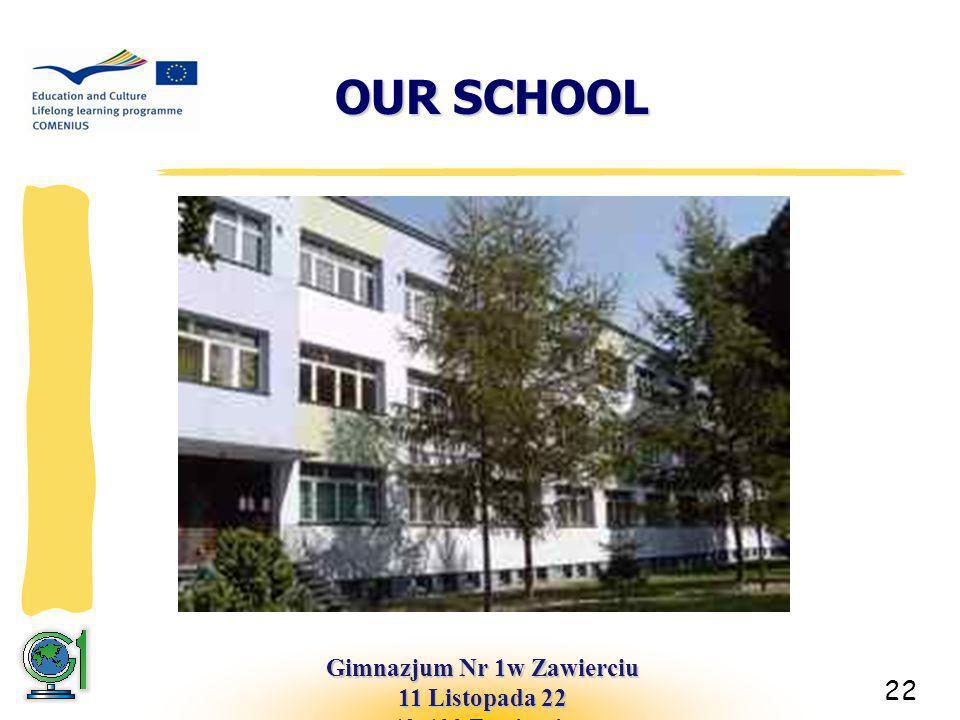 OUR SCHOOL 22 Gimnazjum Nr 1w Zawierciu 11 Listopada 22 42-400 Zawiercie