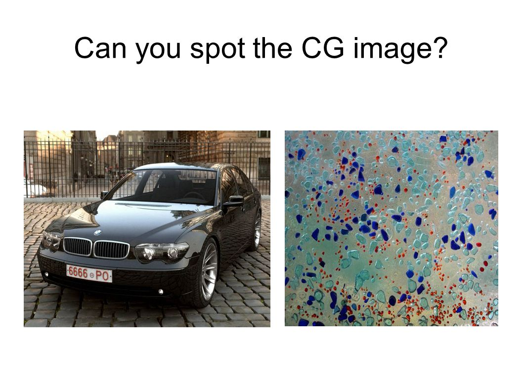 Can you spot the CG image