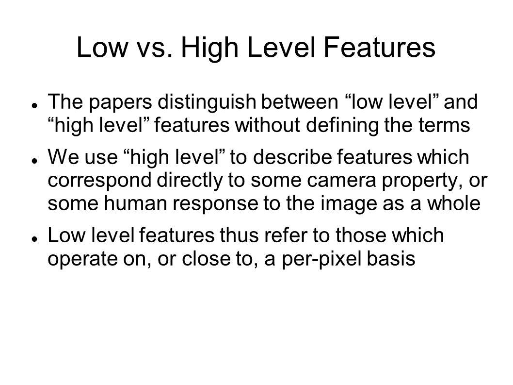 Low vs.