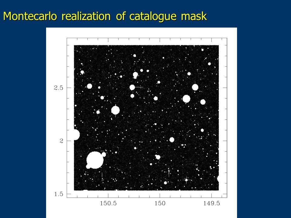 Montecarlo realization of catalogue mask