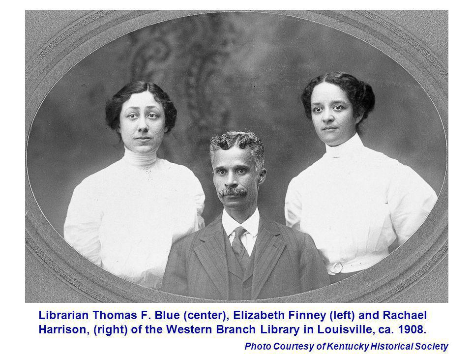 Photo Courtesy of Kentucky Historical Society Librarian Thomas F. Blue (center), Elizabeth Finney (left) and Rachael Harrison, (right) of the Western