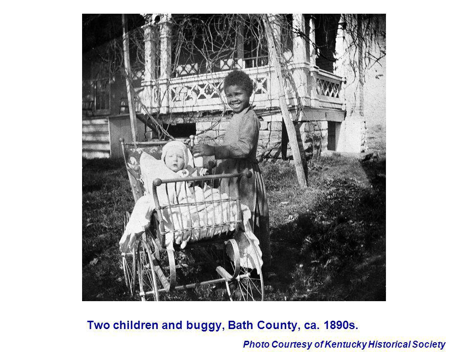 Photo Courtesy of Kentucky Historical Society Two children and buggy, Bath County, ca. 1890s.