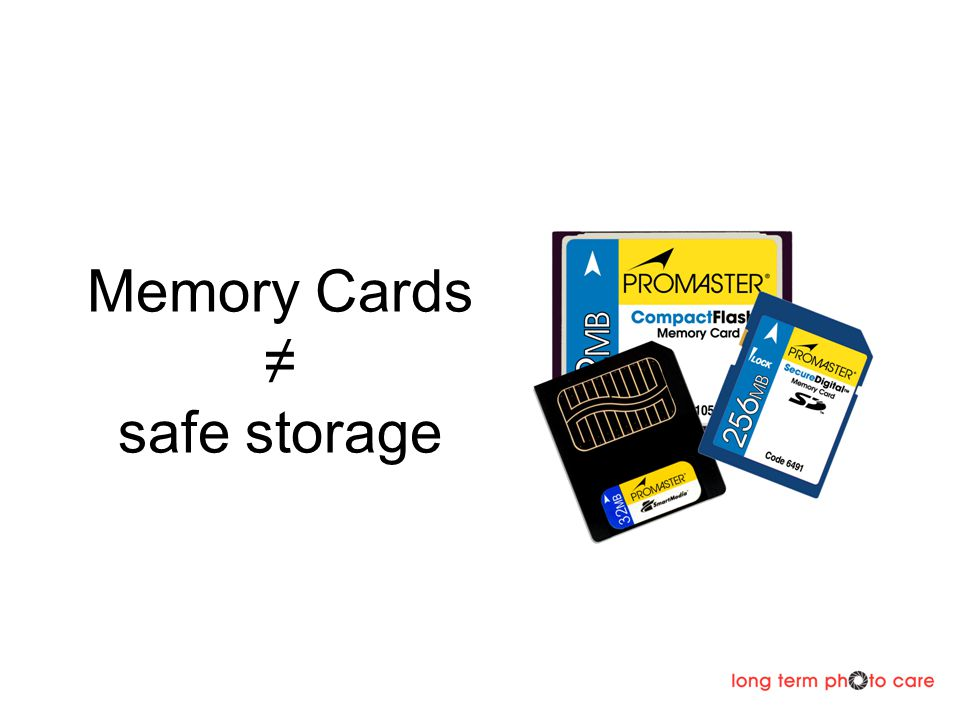 Memory Cards safe storage