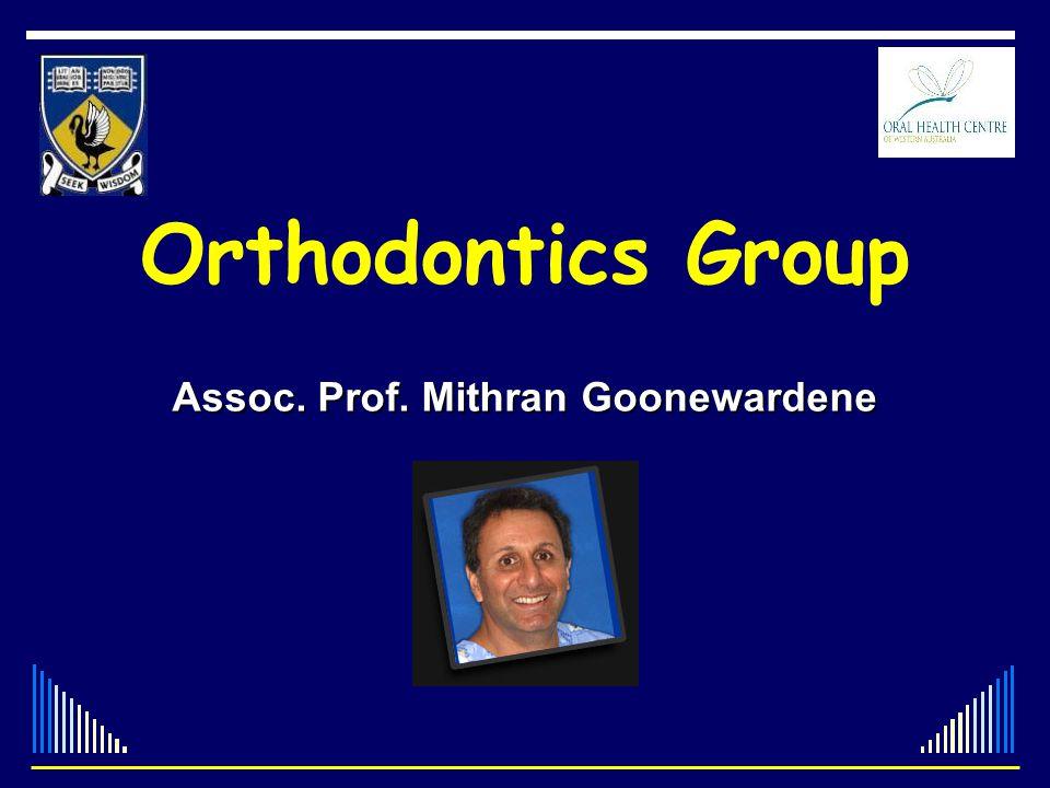 Assoc. Prof. Mithran Goonewardene Orthodontics Group