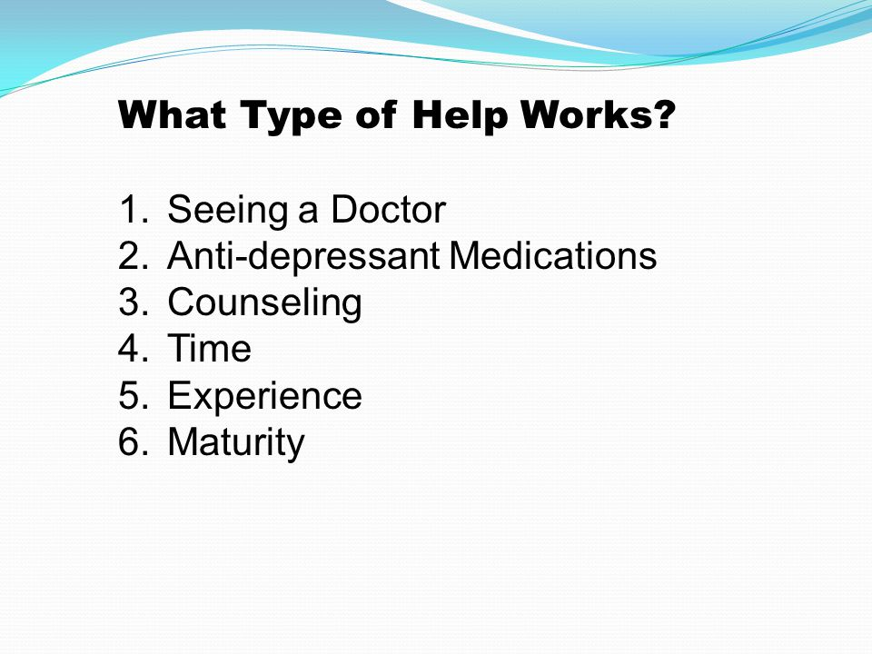 What Type of Help Works.
