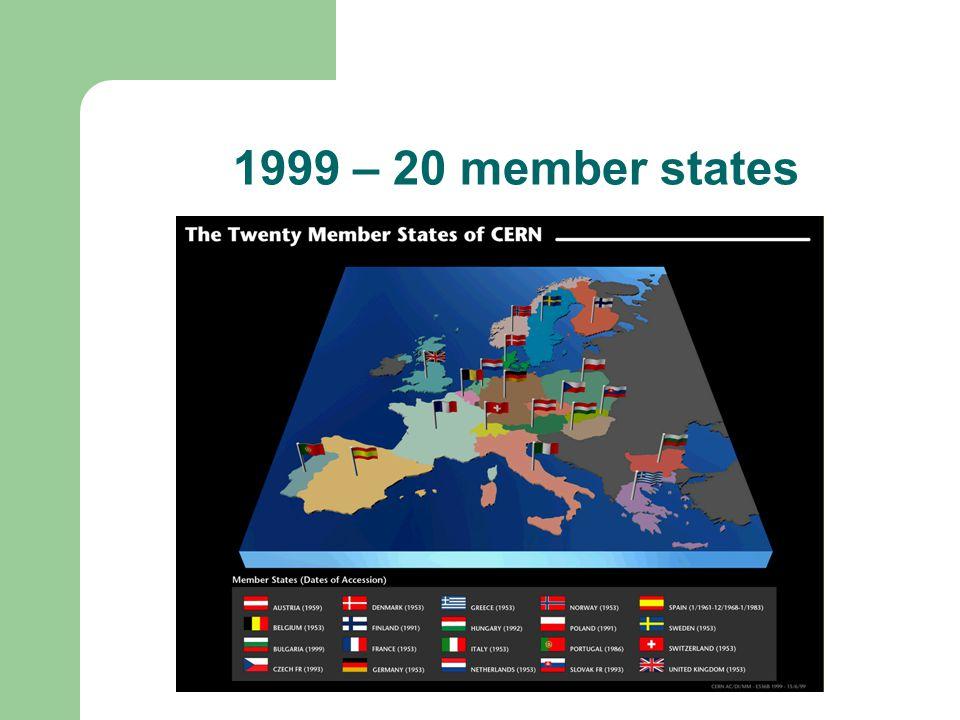 1999 – 20 member states