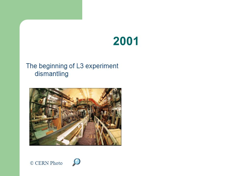 2001 The beginning of L3 experiment dismantling © CERN Photo