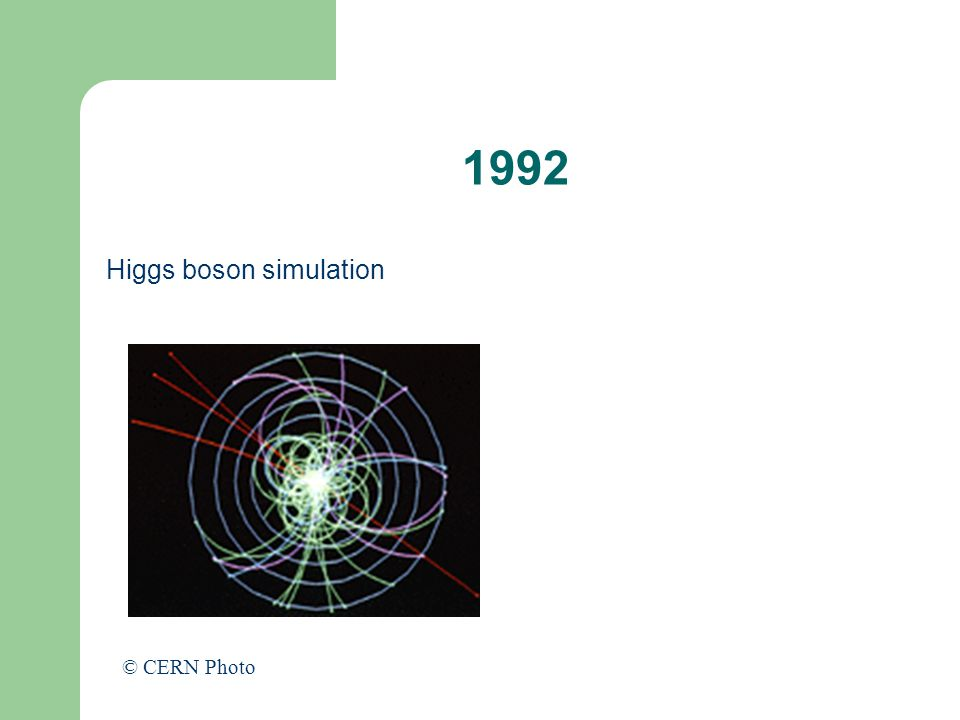 1992 Higgs boson simulation © CERN Photo