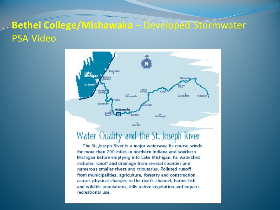 Soil & Water Conservation District– Quality and Quantity of Existing Student Education Programs 327 water-related education programs for over 15,000 students since 2004