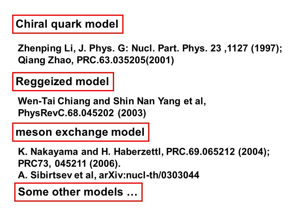 Chiral quark model Zhenping Li, J. Phys. G: Nucl.