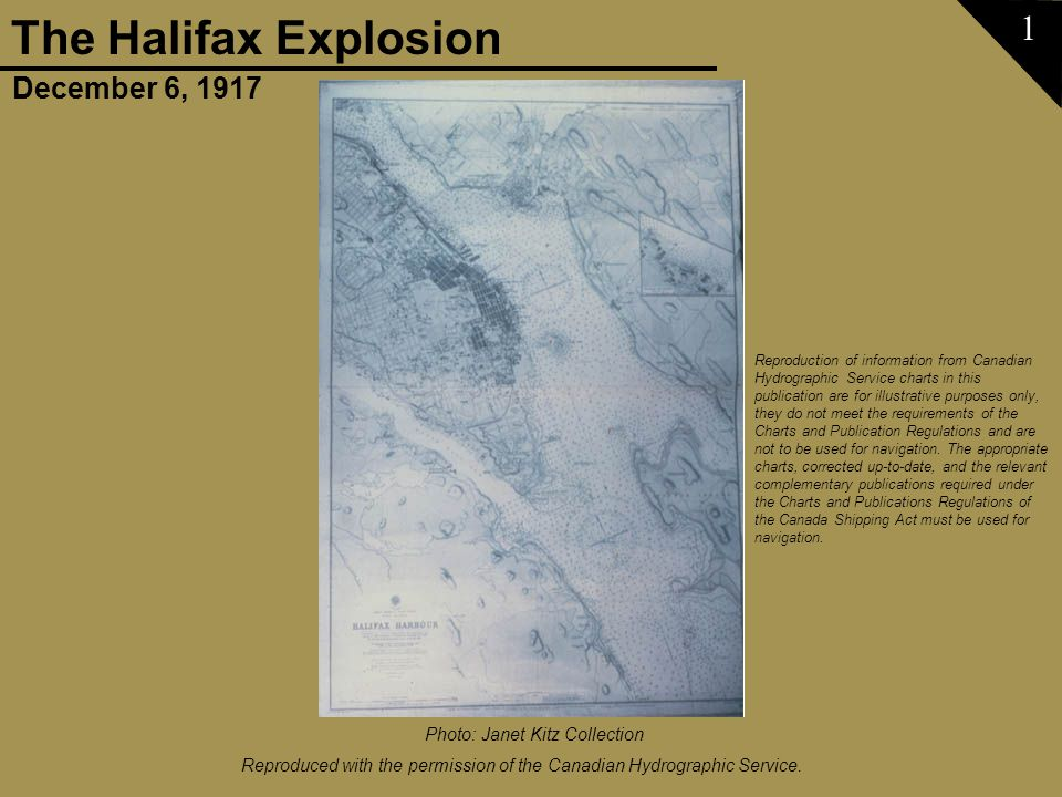 December 6, 1917 The Halifax Explosion Slide show courtesy of Janet Kitz 52 Photo: Maritime Museum of the Atlantic, Charles A.Vaughan Collection