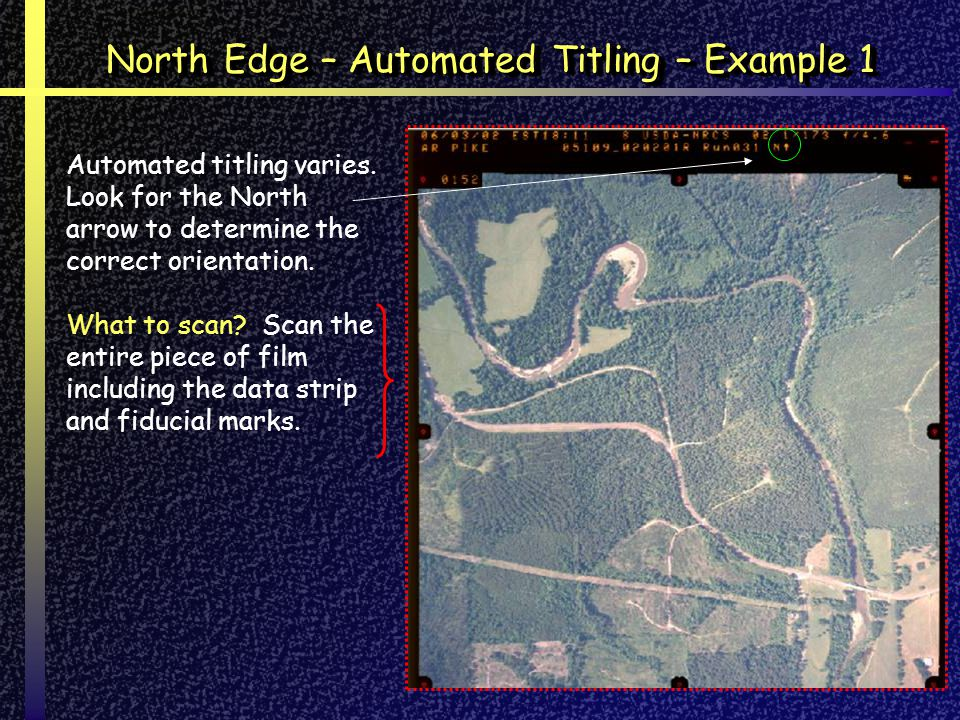 Automated titling varies.Look for the North arrow to determine the correct orientation.