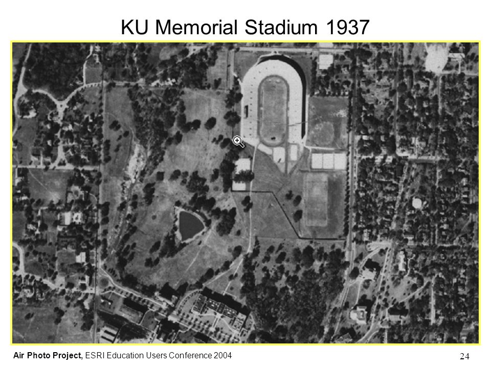 Air Photo Project, ESRI Education Users Conference 2004 24 KU Memorial Stadium 1937