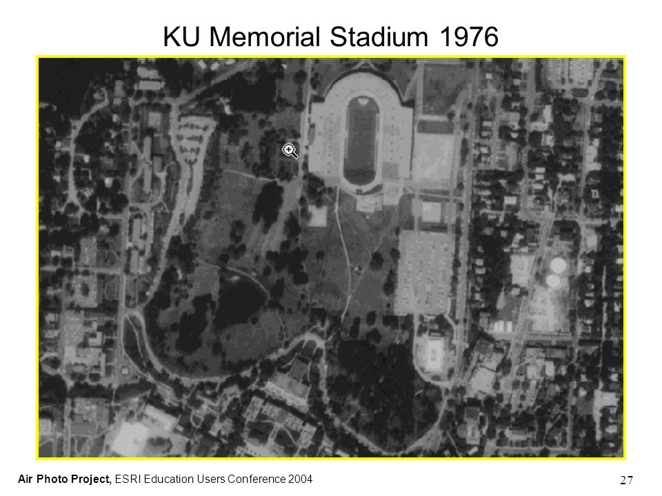 Air Photo Project, ESRI Education Users Conference 2004 27 KU Memorial Stadium 1976