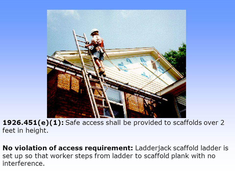 1926.451(g)(1): Fall protection is required for each employee on a scaffold above 10 feet.