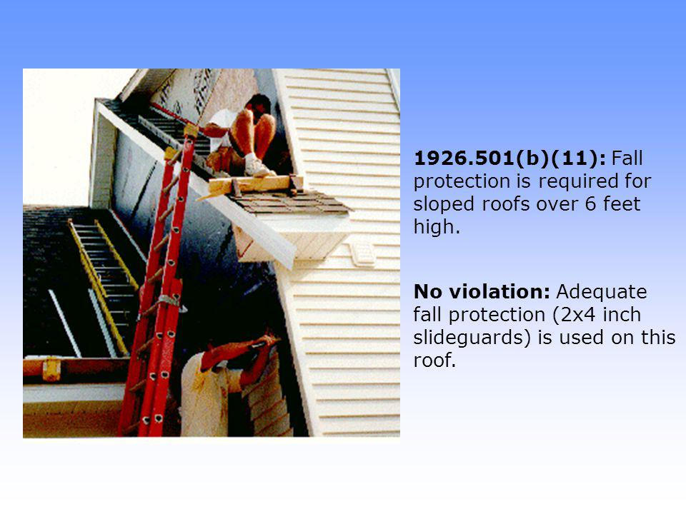 1926.1053(b)(6): Ladders shall be used on stable and level surfaces.