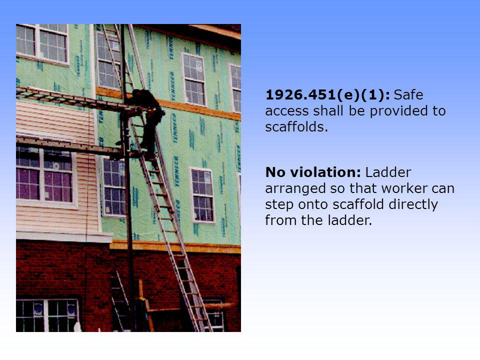 1926.451(g)(1): Guardrails are required at all open sides and ends of scaffolds.
